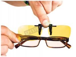 Щипки за очила за нощно шофиране