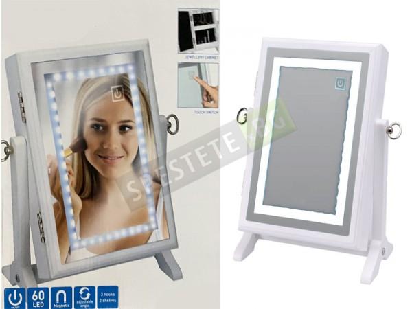 LED огледало и органайзер за козметика и бижута