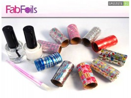 Комплект за маникюр с цветно фолио Fab Foils
