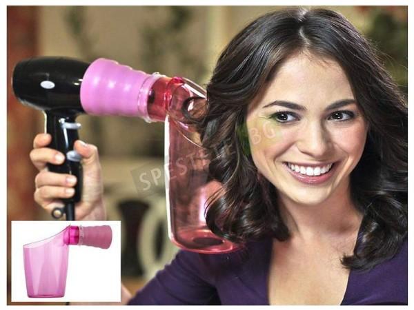 Приставка за сешоар за къдрене на коса