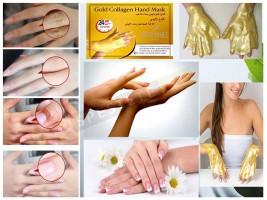 Златна колагенова маска за ръце