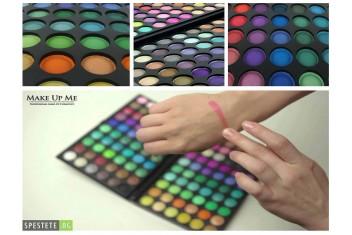 Професионален комплект от 120 цвята сенки за очи