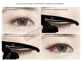 Шаблони за очна линия котешко око