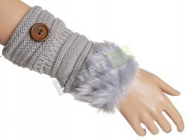 Плетени дамски ръкавици без пръсти