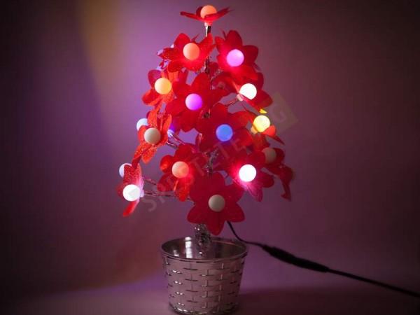 Коледно LED цвете