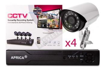 Комплект за видеонаблюдение с 4 камери CCTV