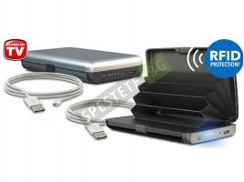 Портфейл за документи и преносима батерия 2в1