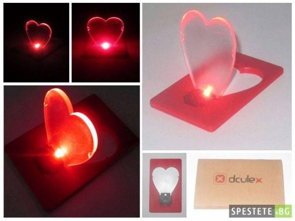 Преносима LED светлинна карта - Сърце
