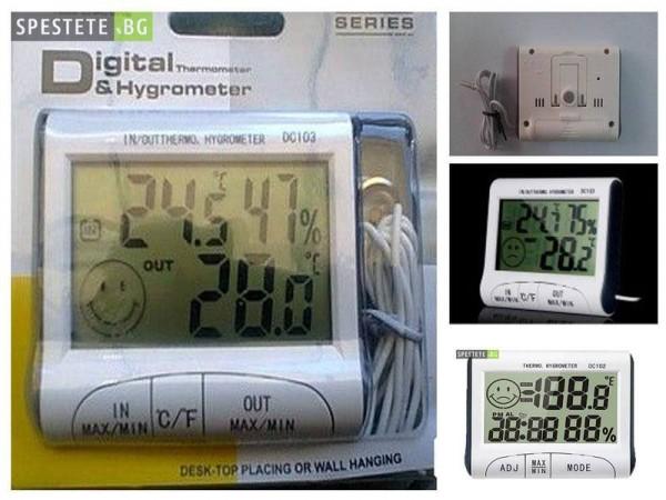 Термометър и влагометър