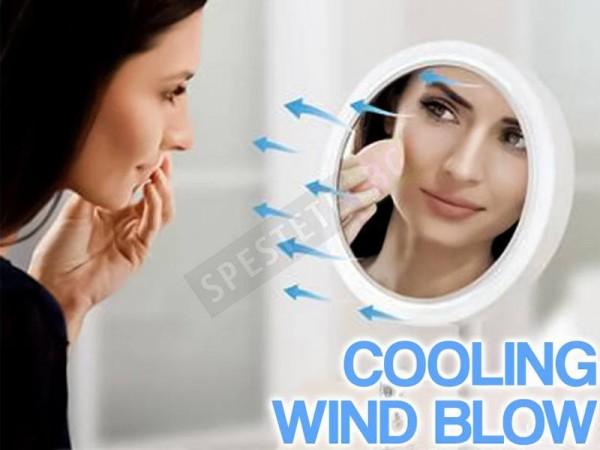 Козметично огледало с LED светлина и вентилатор