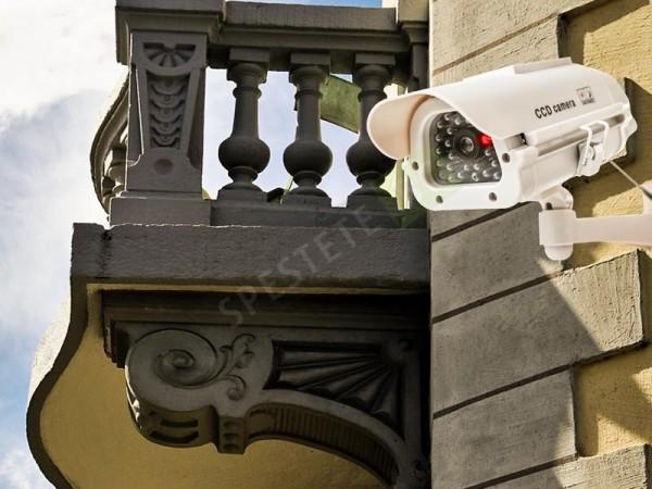 Фалшива камера за видеонаблюдение със соларен панел