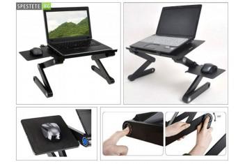 Голяма алуминиева сгъваема маса за лаптоп