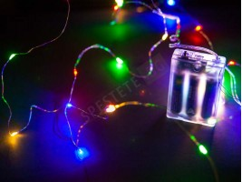 Коледни лампички на батерии