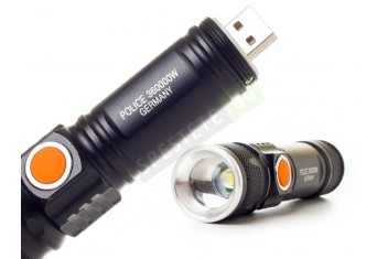 Мощен акумулаторен USB фенер