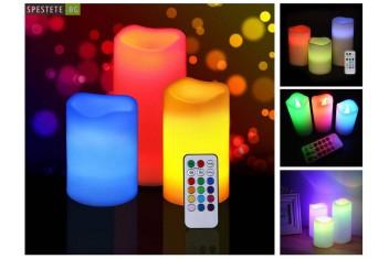 Романтични свещи с дистанционно
