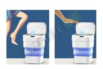 Сгъваем кош за отпадъци със сензор