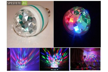 Въртяща се диско лампа