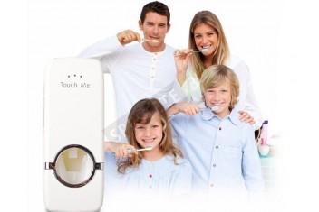 Автоматичен диспенсър за паста за зъби с държач за четки