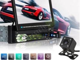 Авто аудио-видео система с прибиращ се 7 инча дисплей