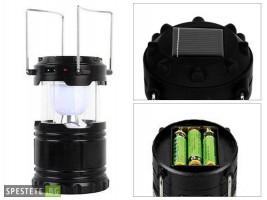 Компактна къмпинг LED лампа със солар