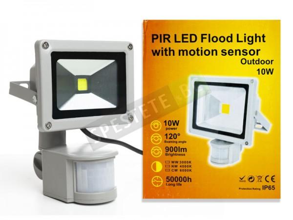 Лампа прожектор с PIR датчик