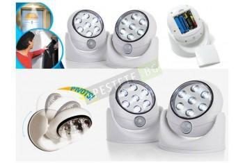 Нощна лампа със сензор за движение