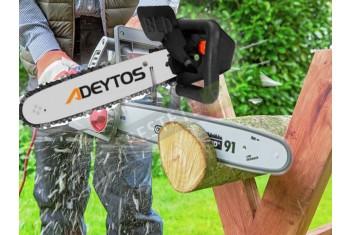 Приставка за ъглошлайф за рязане на дърва