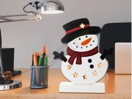 Светеща декорация снежен човек