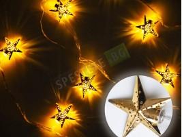 Коледни лампички метални фигурки