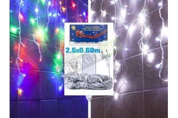 Коледни лампички тип завеса