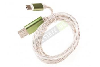 Светещ цветен кабел за зареждане на телефони