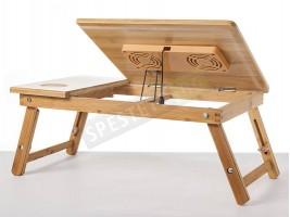 Бамбукова охлаждаща масичка за лаптоп