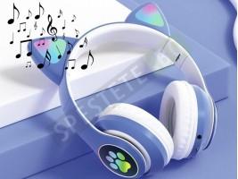Безжични светещи слушалки с котешки уши