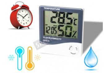 Дигитален часовник с термометър и влагомер