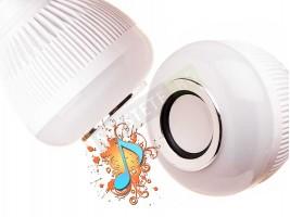 LED крушка с bluetooth колонка