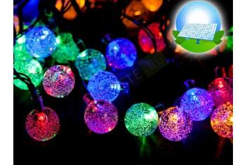 Соларни кристални коледни лампички