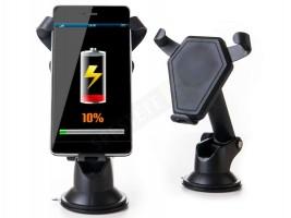 Стойка за телефон с безжично зарядно