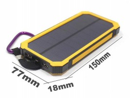 Водоустойчиво соларно зарядно 10000mAh