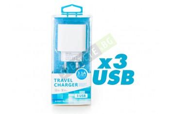 Адаптер за контакт с 3бр. USB