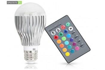 Цветна LED лампа с дистанционно управление