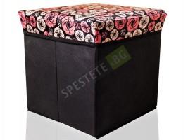 Текстилна сгъваема табуретка кутия