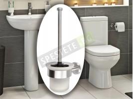 Лепяща поставка и четка за тоалетна