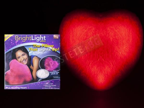 Светеща възглавница с LED светлина