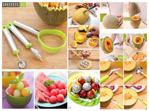 Сет за рязане и декориране на плодове и зеленчици