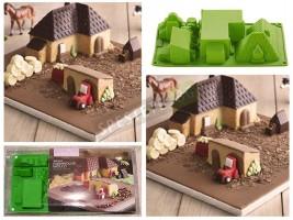 Форма за сладкиши във формата на ферма