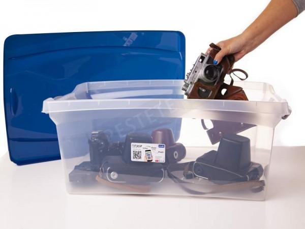 Прозрачен контейнер с удобен капак