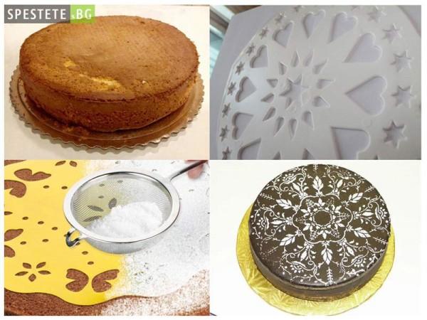Шаблон за поставяне и украсяване на торти