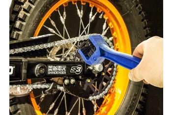 Четка за почистване на верига за мотор велосипед АТВ