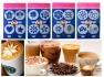 Шаблони за декорация на кафе и мляко