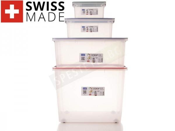 Прозрачен контейнер с капак